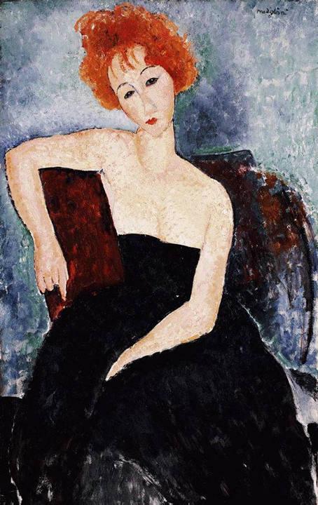 Modigliani-redhead